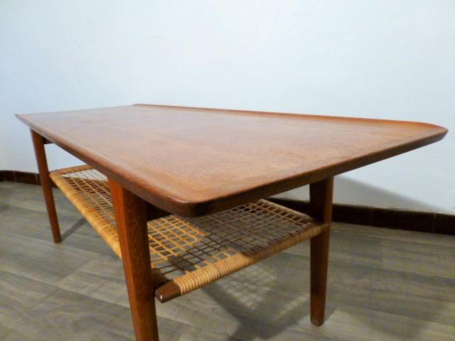 Table basse scandinave en teck mobelintarsia circa 1950 - Table jardin teck massif fort de france ...
