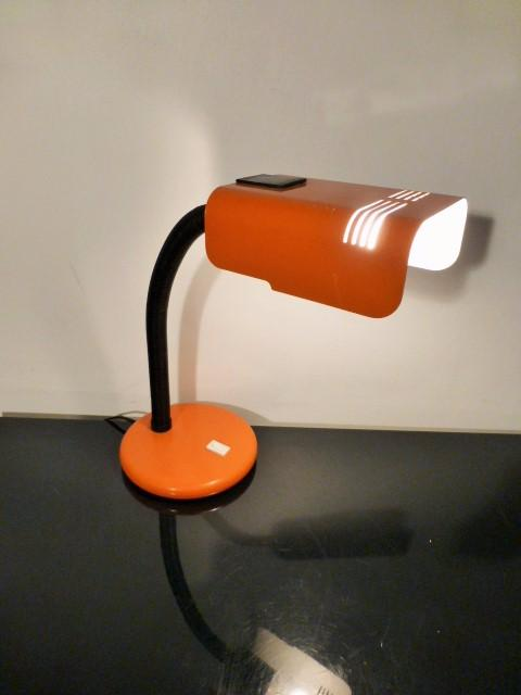 lampe de bureau targetti orange 1970. Black Bedroom Furniture Sets. Home Design Ideas