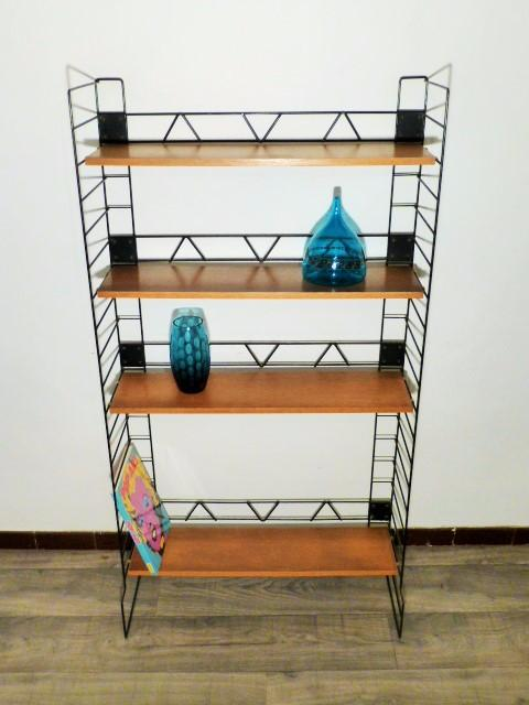 grande etagere vintage string 1965. Black Bedroom Furniture Sets. Home Design Ideas