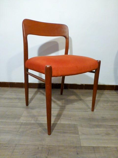 6 chaises scandinaves jl moller n 75 1954 for 6 chaises scandinaves