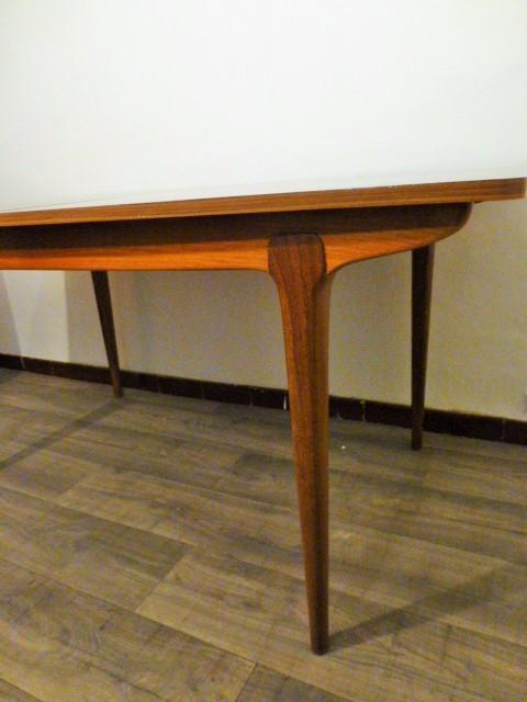 Grande table scandinave en teck 1960 for Grande table scandinave