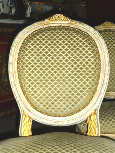 lot de 6 chaises louis xvi pour salle a manger. Black Bedroom Furniture Sets. Home Design Ideas