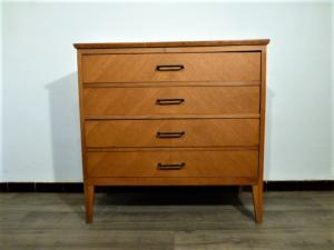 COMMODE VINTAGE 4 TIROIRS. 1960.