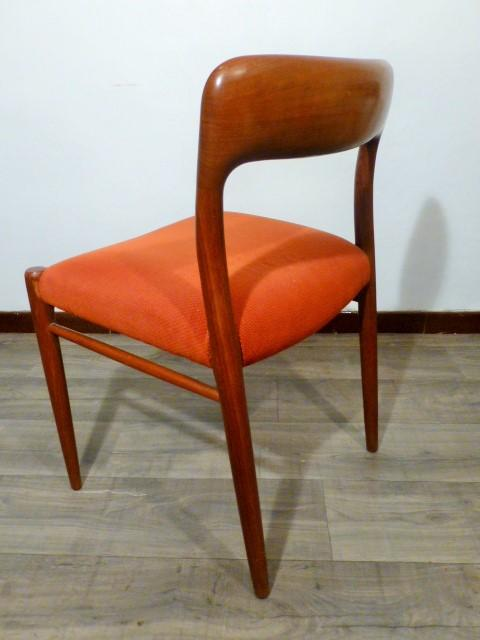 6 Scandinaves Moller Jl N°751954 Chaises Nnw80m