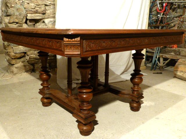 table carree louis philippe On table louis philippe