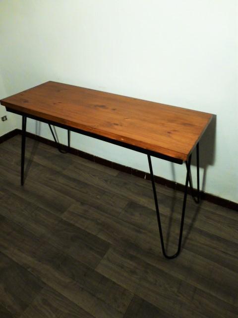 Console bureau en bois pietement hitier 1960 - Console bureau bois ...