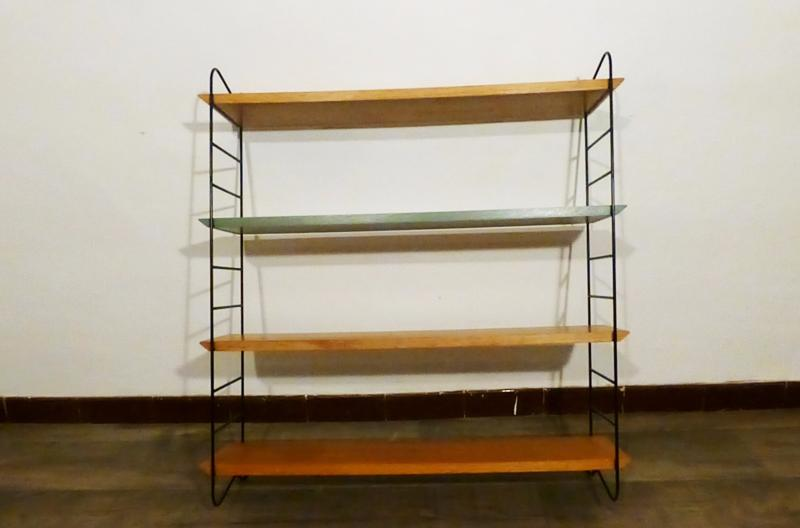 grande etagere vintage modele string 1965. Black Bedroom Furniture Sets. Home Design Ideas