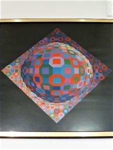 SERIGRAPHIE VASARELY - PLANETARY -1972