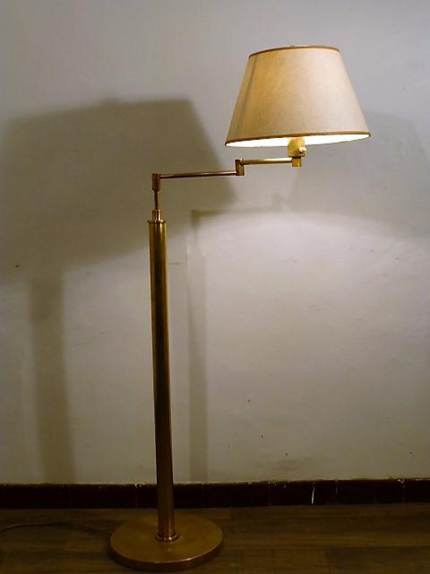Lampadaire Articule En Laiton Vintage 1950