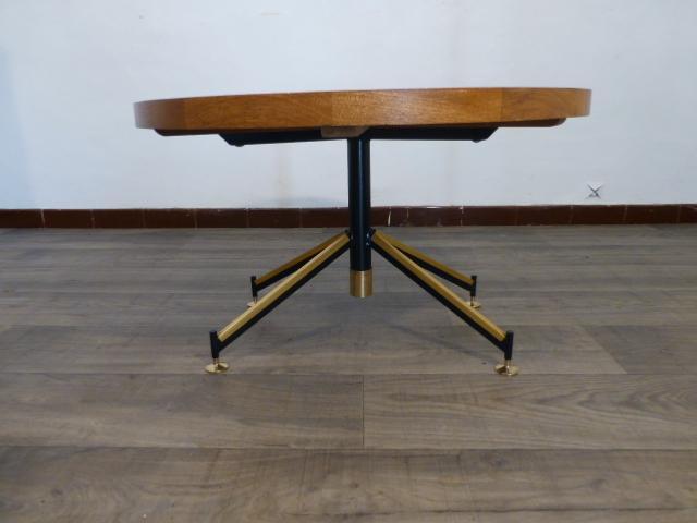 table basse ronde en marqueterie 1930 1960. Black Bedroom Furniture Sets. Home Design Ideas