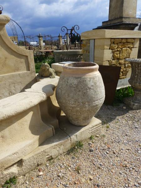Paire de jarres de nimes en terre cuite xxeme siecle - Jarres terre cuite jardin ...